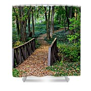 Metroparks Pathway Shower Curtain by Frozen in Time Fine Art Photography