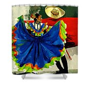 Mexican Dancers Shower Curtain by Elisabeta Hermann