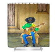 Mexican Serenade Shower Curtain by Pamela Allegretto