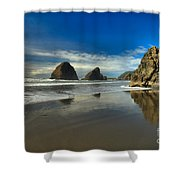 Meyers Creek Beach Shower Curtain by Adam Jewell