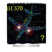 Mh 370 Mystery Shower Curtain by David Lee Thompson