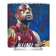 Miami Wade Shower Curtain by Maria Arango