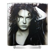 'michael Hutchence' Shower Curtain by Christian Chapman Art