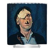 Michael Palin Shower Curtain by Paul Meijering