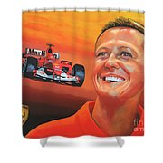 Michael Schumacher 2 Shower Curtain by Paul Meijering