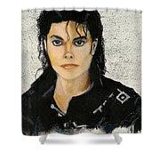 Michaeljacksoninoilpastel Shower Curtain by Lance Sheridan-Peel