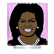 Michelle Obama Shower Curtain by Jost Houk