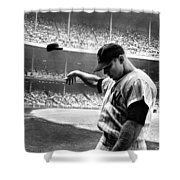 Mickey Mantle Shower Curtain by Gianfranco Weiss