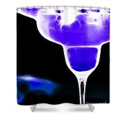 Midnight Blue Margarita Breeze Shower Curtain by Wingsdomain Art and Photography