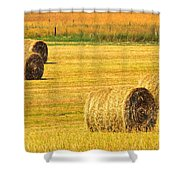 Midwest Farming Shower Curtain by Frozen in Time Fine Art Photography