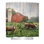 Mifflintown Farm Shower Curtain by Lori Deiter