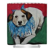 Mikey Shower Curtain by Jeanne Fischer