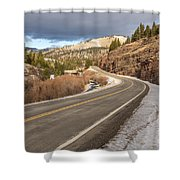Mile One Shower Curtain by Sue Smith