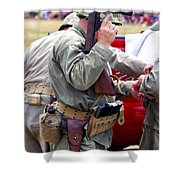 Military Small Arms 04 Ww II Shower Curtain by Thomas Woolworth