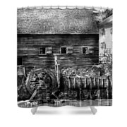 Mill - Sleepy Hollow Ny - By The Mill  Shower Curtain by Mike Savad