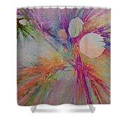 Mind Energy Aura Shower Curtain by Deborah Benoit