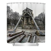 Minera Lead Mines Shower Curtain by Adrian Evans