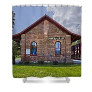 Mineral Bluff Station Shower Curtain by Debra and Dave Vanderlaan