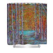 Minnesota Sunset Shower Curtain by Jacqueline Athmann