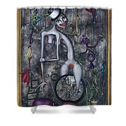 Miss Millies Greatest Show On Earth Shower Curtain by Kelly Jade King