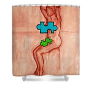 Missing Piece 6 Shower Curtain by Patrick J Murphy