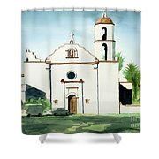 Mission San Luis Rey Colorful II Shower Curtain by Kip DeVore