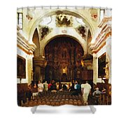 Mission San Xavier Del Bac Shower Curtain by Bob and Nadine Johnston