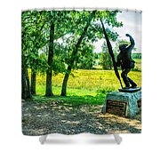 Mississippi Memorial Gettysburg Battleground Shower Curtain by Bob and Nadine Johnston