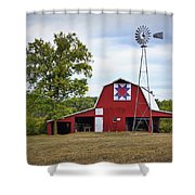Missouri Star Quilt Barn Shower Curtain by Cricket Hackmann