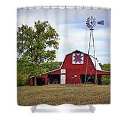 Missouri Star Quilt Barn Shower Curtain by Cricket Hackmann