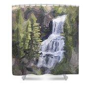 Misty Falls Shower Curtain by Jo-Anne Gazo-McKim