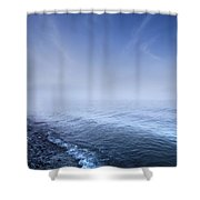 Misty Seaside In The Evening, Mons Shower Curtain by Evgeny Kuklev
