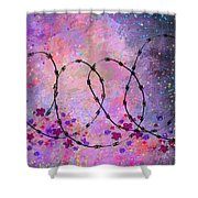 Mixed Messages Shower Curtain by Rachel Christine Nowicki