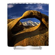 Mobius Arch Shower Curtain by Inge Johnsson