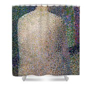 Model From The Back Shower Curtain by Georges Pierre Seurat