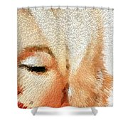 Modern Marilyn - Marilyn Monroe Art By Sharon Cummings Shower Curtain by Sharon Cummings