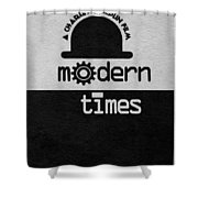 Modern Times Shower Curtain by Ayse Deniz