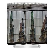 Modern Totems Shower Curtain by Joan Carroll