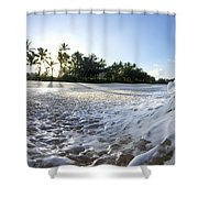 Momentary Foam Creation Shower Curtain by Sean Davey
