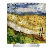 Momzie's Nature -t02-2v03f Shower Curtain by Variance Collections