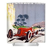 Monaco Grand Prix 1934 Shower Curtain by Georgia Fowler