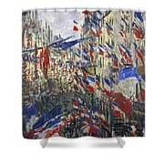 Monet: Montorgeuil, 1878 Shower Curtain by Granger
