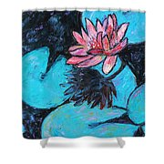 Monet's Lily Pond IIi Shower Curtain by Xueling Zou