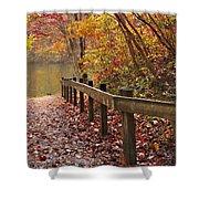 Monet's Trail Shower Curtain by Debra and Dave Vanderlaan