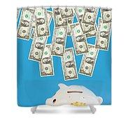 Money Saving Shower Curtain by Michal Bednarek