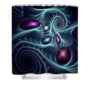 Monsters Of The Deep Shower Curtain by Anastasiya Malakhova