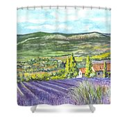 Montagne De Lure In Provence France Shower Curtain by Carol Wisniewski