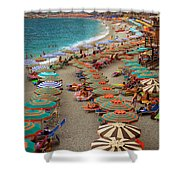 Monterosso Beach Shower Curtain by Inge Johnsson