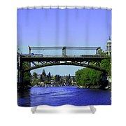 Montlake Bridge 2 Shower Curtain by Cheryl Young