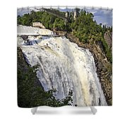 Montmorency Falls Park Quebec City Canada Shower Curtain by Edward Fielding
